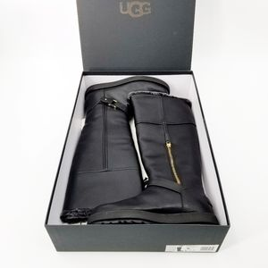 UGG Berge Tall Classic Black Leather Boots